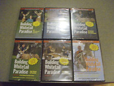 BUILDING WHITETAIL PARADISE VOL 1,2,3,4A,4B AND 5 DEER HUNTING DVD BRAND NEW