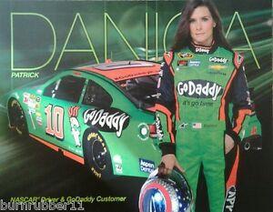 "2014 DANICA PATRICK ""GO DADDY CHEVY"" #10 NASCAR SPRINT CUP SERIES POSTCARD"