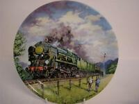 BRADEX & DAVENPORT POTTERY GREAT STEAM TRAINS THE GOLDEN ARROW PLATE