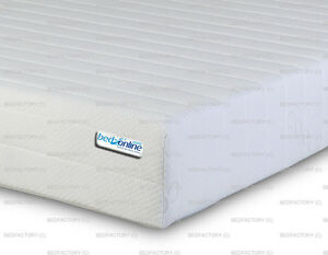 BRAND NEW DELUXE MEMORY REFLEX FOAM MATTRESS 3 ZONE WITH REMOVABLE ZIP COVER