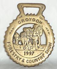 1997, Croydon - Country Show  [ Brass plaque ] 9.3cm H x 7.5cm W