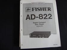 Original Service Manual Fisher AD-822