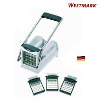 Westmark Germany Multipurpose French Fry Cutter With 3 Stainless Steel Blades