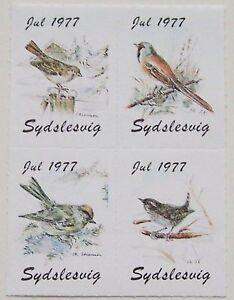 Denmark - Jul 1977 Sydslesvig block of 4 Birds