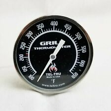 Komodo Style Grill Replacement Thermometer Black Dial Tel-Tru BQ325R
