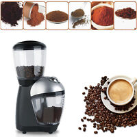 220V Electric Automatic Coffee Bean Mill Grinder Maker Machine Kitchen New.