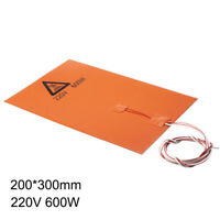 Heatbed 200/600/750W with NTC 100K Thermistor Silicone Heater Pad for 3D Printer