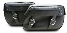 SUZUKI BOULEVARD C50 C50T STUDDED SYNTHETIC LEATHER SADDLEBAGS 05-12