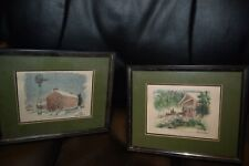 Water Colors by Harry Lindstrom Framed