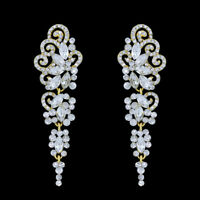 Fashion Jewellery Women Crystal Diamante Chandelier Long Drop Dangle Earrings