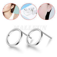 New Women Fashion Jewelry 925 Sterling Silver Plated Small Hoop Stud Earrings