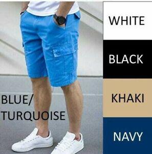 Men Cargo Shorts Belt Included