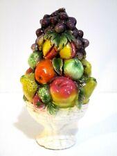 "Vintage Ceramic Mixed Fruit Topiary 9.5"""
