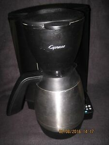 CAPRESSO MT600 10-cup PROGRAMMABLE COFFEE MAKER w/ THERMAL CARAFE