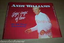 Andy Williams 3 CD Box Set Sings Songs of Love 36 All Time Favorites Sony Music