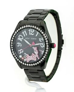 Betsey Johnson Women's Black Stainless Steel Watch 273060BLK001, New