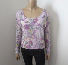 abba7752b6c NWT Tilly s Full Tilt Womens Floral Shirt Size XS Top Purple Flowers Long  Sleeve