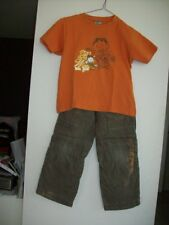 ensemble garçon 6 ans pantalon ajustable OKAIDI +t tee shirt polo maillot orange
