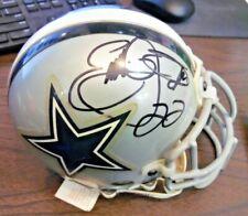 Emmitt Smith Autographed Signed Dallas Cowboys Silver MIni Helmet | COA
