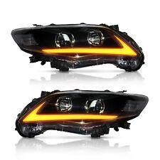 Headlights For TOYOTA COROLLA 2011 2012 2013 LED Project Black Housing Head Lamp