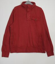 New Fat Face Men's Brick Red Half Button Vintage Washed Funnel Sweat Top XS-XL