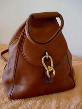 Spacieux sac de marque, porté dos beau cuir cognac /fauve chatain