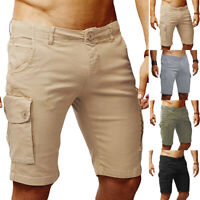 Mens Shorts Cargo Combat Chino Gym Casual Loose Fit Work Shorts Multi Pockets