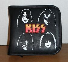 vintage KISS group music dvd cd wallet case storage holder