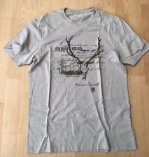 Banana REPUBLIC Gris Vida Silvestre Safari T-Shirt Small