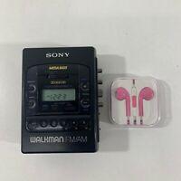 Sony WM-F2085 Walkman AM FM Stereo Cassette Tape Player Mega Bass, For Parts