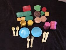 Lot Of Little Tikes Dishes Food  Money Credit Card VGC
