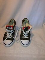 Converse All Star Double Tongue Boys Green Trainers Uk 2 Ref Ma02