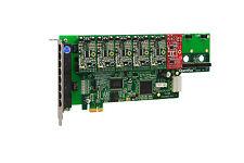 OpenVox A800E51 8 Port Analog PCI-E Base card + 5 FXS + 1 FXO, Ethernet (RJ45)