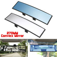 Car Interior Panoramic 270mm Convex Rear View Rearview Mirror Universal Clip On