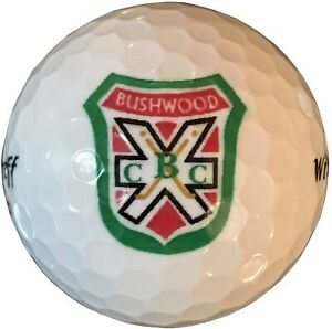 Caddyshack Style Bushwood Country Club Sleeve of THREE White Golf Balls