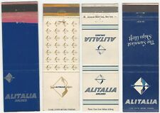Four Vintage Alitalia Italian Airlines Matchbook Covers