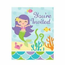 CLEARANCE Mermaid Friends Birthday Party Invitations & Envelopes x 8