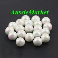 50 x beads imitation pearl white ab colour color mother of pearl look 8mm crafts