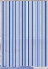 Peva Blue Stripe Design Shower Curtain 180 x 180cm  Hooks included SC-400