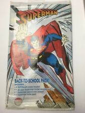 SUPERMAN BACK TO SCHOOL PACK - 1993 DC (BAGGED) 2 comics,pencil,notepad,poster