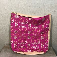 Anna Sui Large Canvas Tote Purse Pink Floral