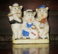 Antique Vintage Three Little Pigs Bisque Walt Disney Japan 1930's Holder