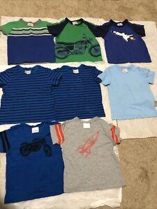 Used Lot 8 Hanna Andersson Toddler Boy Cotton Tshirt 3T/90cm(3Suede 3pima 2slub)