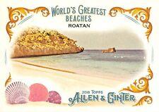 2018 Allen & Ginter (Topps) WORLD'S GREATEST BEACHES Insert Card WGB-4 / ROATAN