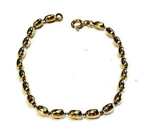 Bijou plaqué or 18 carats bracelet maille souple ogives idéal pour cadeau