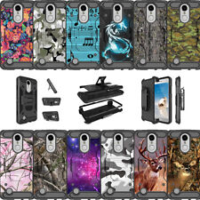 For LG Phoenix 3 | LG Fortune | LG K4 (2017) Dual Layer Kickstand Case - Camos