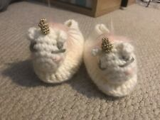 Knitted Baby Unicorn Slippers Shoes 6-12 Months