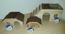 Nagerhaus aus Holz versch. Größen mit Rampe, Hamster, Meerschweinchen, Kaninchen