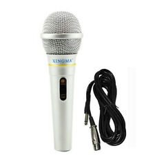 Dynamic Condenser Microphones Vocal Handheld Silver Wired Mikrofon