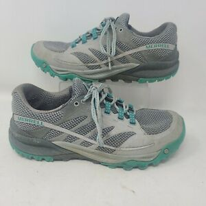 Merrell Womens All Out Charge Trail Running Shoes Grey Green Size 8.5
